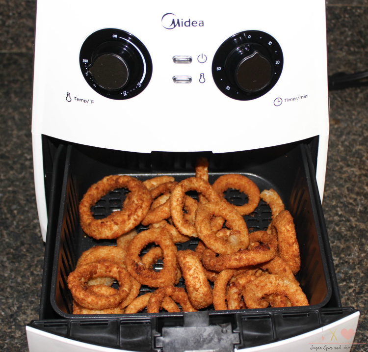onion rings in Midea Air Fryer