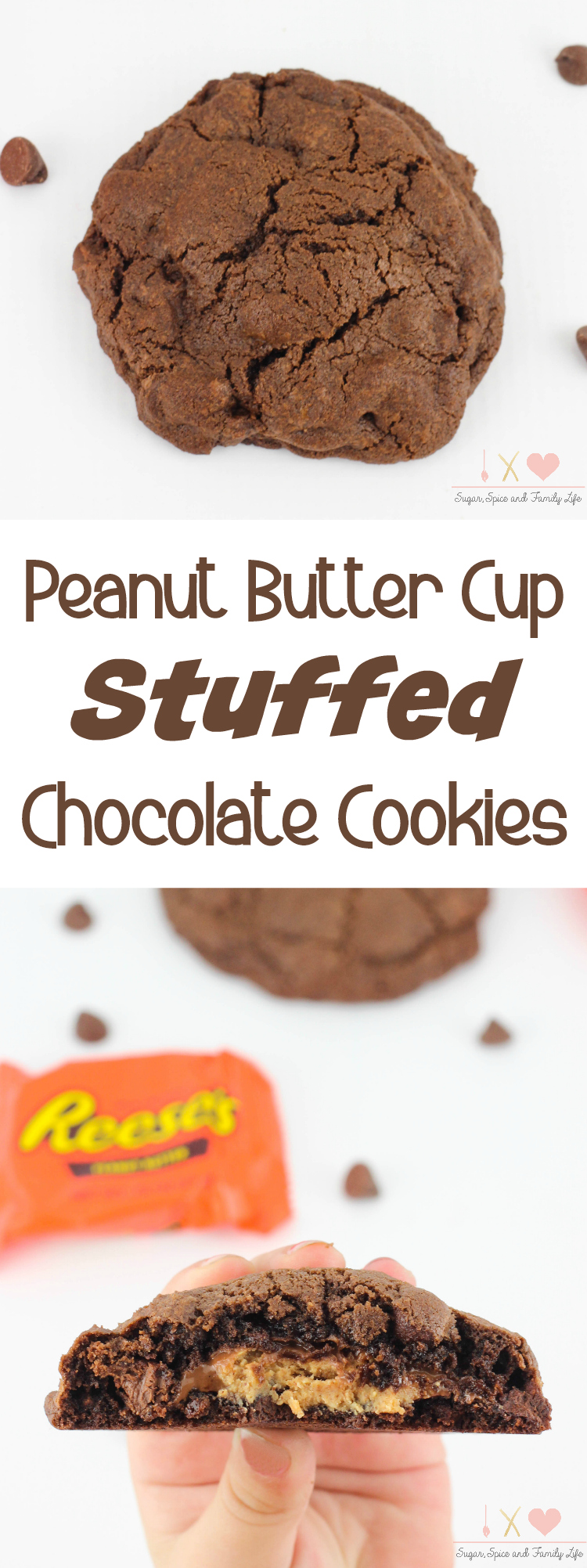 Peanut Butter Cup Stuffed Chocolate Cookies Recipe